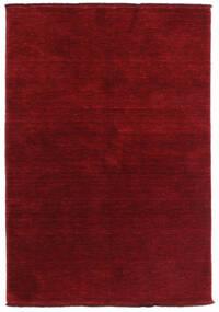 Handloom Fringes - Mörkröd Matta 140X200 Modern Mörkröd/Röd (Ull, Indien)