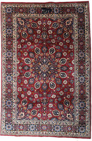 Mashad Matta 200X300 Äkta Orientalisk Handknuten Mörkbrun/Svart (Ull, Persien/Iran)