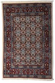 Moud Matta 78X115 Äkta Orientalisk Handknuten Mörkbrun/Ljusgrå (Ull/Silke, Persien/Iran)