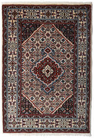 Moud Matta 80X120 Äkta Orientalisk Handknuten Mörkbrun/Ljusgrå (Ull/Silke, Persien/Iran)