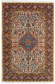 Sarough Matta 72X105 Äkta Orientalisk Handknuten Mörkbrun/Ljusbrun (Ull, Persien/Iran)