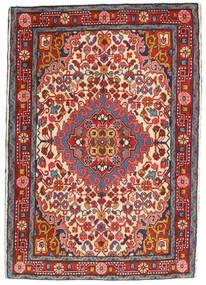 Hamadan Matta 65X95 Äkta Orientalisk Handknuten Mörkröd/Roströd (Ull, Persien/Iran)