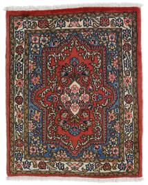 Sarough Matta 69X85 Äkta Orientalisk Handknuten Mörkbrun/Mörkröd (Ull, Persien/Iran)