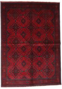 Afghan Khal Mohammadi Matta 168X232 Äkta Orientalisk Handknuten Mörkröd/Röd (Ull, Afghanistan)