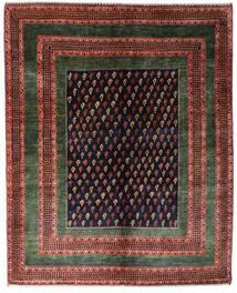 Gabbeh Kashkooli Matta 151X190 Äkta Modern Handknuten Mörkröd/Mörkbrun (Ull, Persien/Iran)
