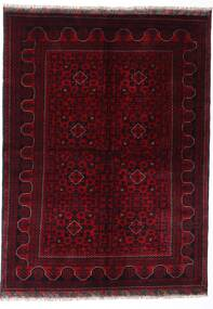 Kunduz Matta 147X198 Äkta Orientalisk Handknuten Mörkröd (Ull, Afghanistan)