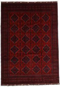 Kunduz Matta 241X346 Äkta Orientalisk Handknuten Mörkröd/Röd (Ull, Afghanistan)