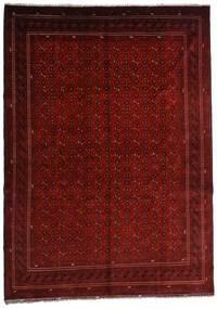 Kunduz Matta 246X348 Äkta Orientalisk Handknuten Mörkröd/Mörkbrun (Ull, Afghanistan)