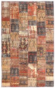 Patchwork - Persien/Iran Matta 191X312 Äkta Modern Handknuten Mörkröd/Brun (Ull, Persien/Iran)