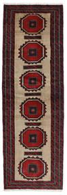 Beluch Matta 65X201 Äkta Orientalisk Handknuten Hallmatta Mörkröd/Svart (Ull, Persien/Iran)