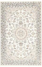 Nain 9La Matta 116X181 Äkta Orientalisk Handknuten Beige/Ljusgrå/Vit/Cremefärgad (Ull/Silke, Persien/Iran)