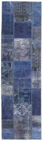 Patchwork - Persien/Iran Matta 73X253 Äkta Modern Handknuten Hallmatta Mörkblå/Ljuslila (Ull, Persien/Iran)