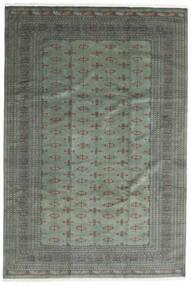 Pakistan Bokhara 3Ply Matta 244X360 Äkta Orientalisk Handknuten Mörkgrön/Ljusgrön (Ull, Pakistan)