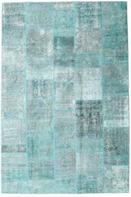 Patchwork - Persien/Iran Matta 205X303 Äkta Modern Handknuten Ljusblå/Pastellgrön/Turkosblå (Ull, Persien/Iran)