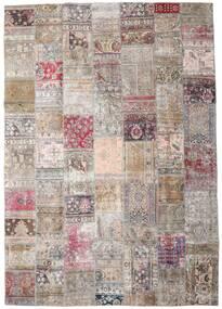 Patchwork - Persien/Iran Matta 248X352 Äkta Modern Handknuten Ljusgrå/Rosa (Ull, Persien/Iran)