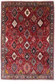 Yalameh Matta 200X292 Äkta Orientalisk Handknuten Mörkröd (Ull, Persien/Iran)