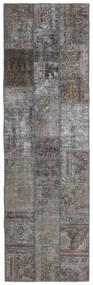 Patchwork - Persien/Iran Matta 77X253 Äkta Modern Handknuten Hallmatta Mörkgrå/Ljusgrå (Ull, Persien/Iran)