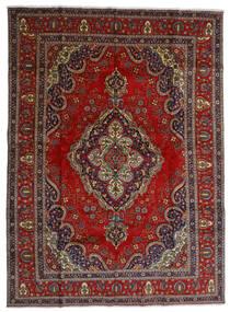 Tabriz Matta 300X408 Äkta Orientalisk Handknuten Mörkröd/Mörkgrå Stor (Ull, Persien/Iran)
