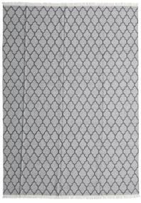 Bambu Silke Kelim Matta 250X350 Äkta Modern Handvävd Ljusgrå/Mörkgrå Stor (Ull/Bambusilke, Indien)