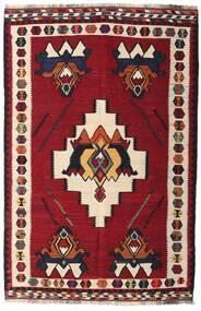 Kelim Vintage Matta 153X232 Äkta Orientalisk Handvävd Mörkröd/Mörkbrun (Ull, Persien/Iran)