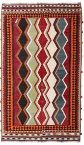 Kelim Vintage Matta 157X270 Äkta Orientalisk Handvävd Mörkröd/Mörkbrun (Ull, Persien/Iran)