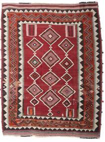 Kelim Vintage Matta 186X246 Äkta Orientalisk Handvävd Mörkröd/Mörkbrun (Ull, Persien/Iran)