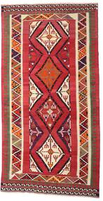 Kelim Vintage Matta 150X296 Äkta Orientalisk Handvävd Hallmatta Mörkröd/Beige (Ull, Persien/Iran)