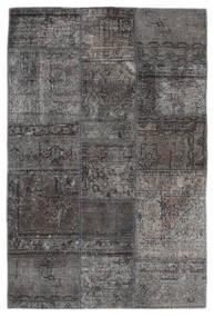 Patchwork - Persien/Iran Matta 105X159 Äkta Modern Handknuten Mörkgrå/Svart (Ull, Persien/Iran)