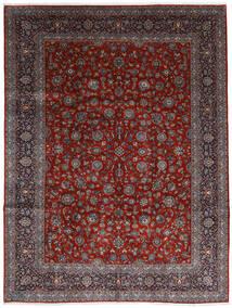 Keshan Matta 278X367 Äkta Orientalisk Handknuten Mörkröd/Mörkbrun Stor (Ull, Persien/Iran)