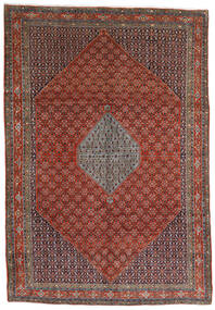 Bidjar Matta 221X320 Äkta Orientalisk Handknuten Mörkbrun/Mörkröd (Ull, Persien/Iran)
