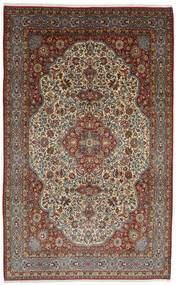 Ghom Kork/Silke Matta 254X375 Äkta Orientalisk Handknuten Mörkbrun/Ljusbrun Stor (Ull/Silke, Persien/Iran)