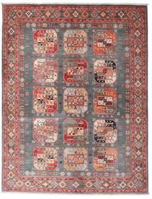 Kazak Matta 150X194 Äkta Orientalisk Handknuten Brun/Mörkröd (Ull, Afghanistan)