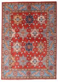 Kazak Matta 144X203 Äkta Orientalisk Handknuten Mörkröd/Roströd (Ull, Afghanistan)