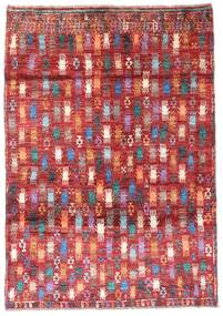 Moroccan Berber - Afghanistan Matta 115X169 Äkta Modern Handknuten Mörkröd/Roströd (Ull, Afghanistan)