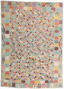 Kelim Afghan Old Style Matta 165X232 Äkta Orientalisk Handvävd Ljusgrå/Ljusrosa (Ull, Afghanistan)