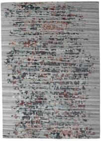 Damask Collection Matta 164X231 Äkta Modern Handknuten Ljusgrå/Mörkgrå ( Indien)
