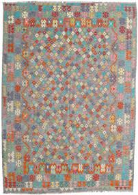 Kelim Afghan Old Style Matta 213X300 Äkta Orientalisk Handvävd Mörkgrå/Ljusgrå (Ull, Afghanistan)