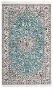 Nain 9La Matta 124X202 Äkta Orientalisk Handknuten Ljusgrå/Beige (Ull/Silke, Persien/Iran)
