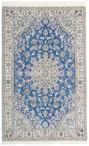 Nain 9La Matta 130X203 Äkta Orientalisk Handknuten Ljusgrå/Vit/Cremefärgad (Ull/Silke, Persien/Iran)