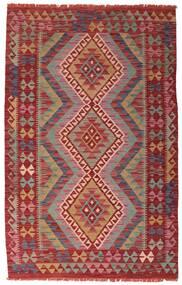 Kelim Afghan Old Style Matta 106X168 Äkta Orientalisk Handvävd Mörkröd (Ull, Afghanistan)