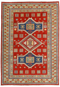 Kazak Matta 203X289 Äkta Orientalisk Handknuten Roströd/Mörkgrå (Ull, Afghanistan)