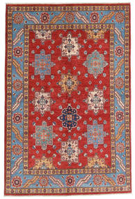 Kazak Matta 158X237 Äkta Orientalisk Handknuten Mörkröd/Roströd (Ull, Afghanistan)