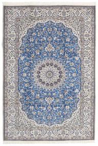 Nain 9La Matta 216X312 Äkta Orientalisk Handknuten Blå/Mörkgrå (Ull/Silke, Persien/Iran)