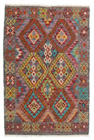 Kelim Moderna Matta 85X129 Äkta Modern Handvävd Mörkröd/Brun (Ull, Afghanistan)