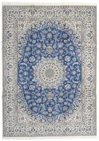 Nain 9La Matta 253X350 Äkta Orientalisk Handknuten Ljusgrå/Blå Stor (Ull/Silke, Persien/Iran)
