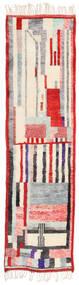 Berber Moroccan - Mid Atlas Matta 84X314 Äkta Modern Handknuten Hallmatta Beige/Ljusgrå (Ull, Marocko)