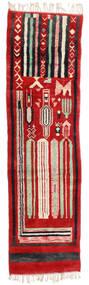Berber Moroccan - Mid Atlas Matta 82X304 Äkta Modern Handknuten Hallmatta Roströd/Svart (Ull, Marocko)