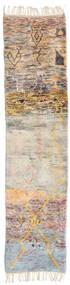 Berber Moroccan - Mid Atlas Matta 74X297 Äkta Modern Handknuten Hallmatta Ljusgrå/Mörkbrun (Ull, Marocko)