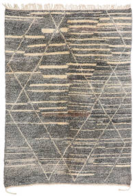 Berber Moroccan - Mid Atlas Matta 200X283 Äkta Modern Handknuten Ljusgrå/Mörkgrå (Ull, Marocko)