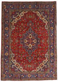 Tabriz Matta 240X333 Äkta Orientalisk Handknuten Mörkröd/Mörkgrå (Ull, Persien/Iran)